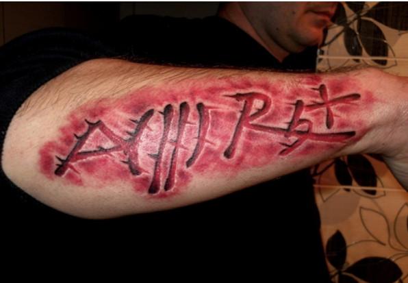 группа крови татуировка
