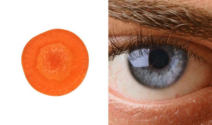 морковь - глаза