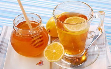 Зеленый чай с лимоном и медом