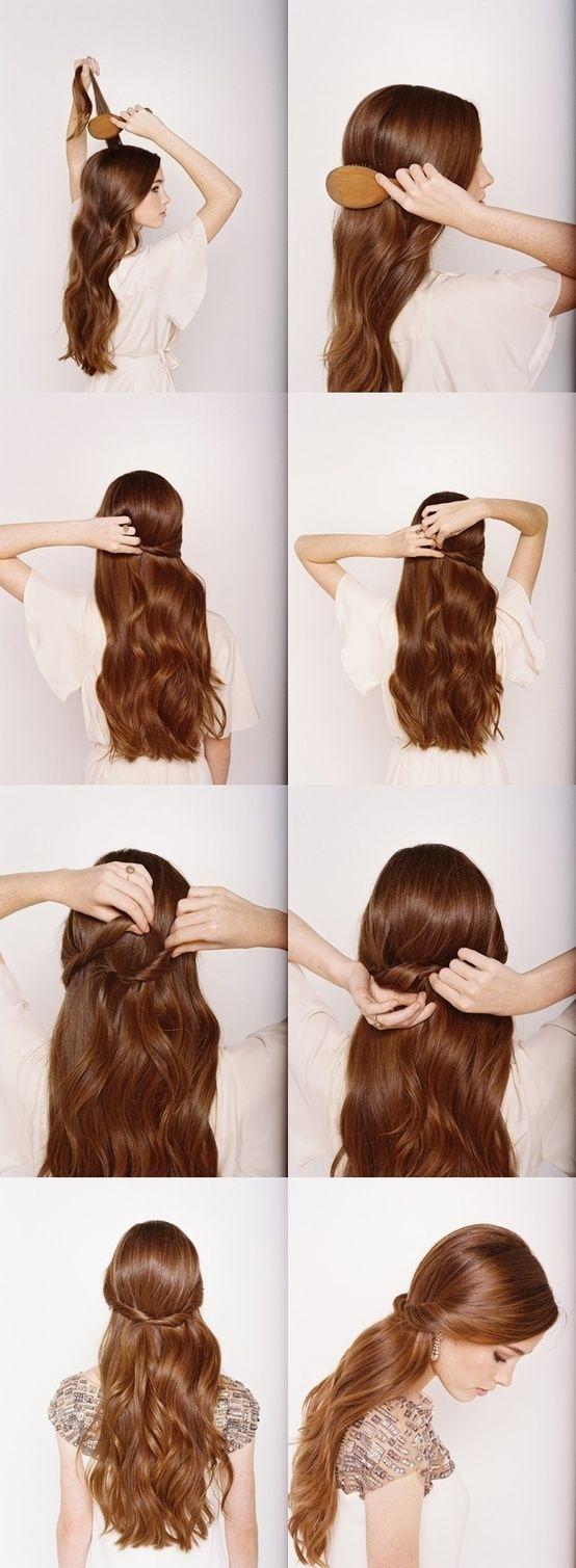 Пошаговые прически с длинными волосами фото на