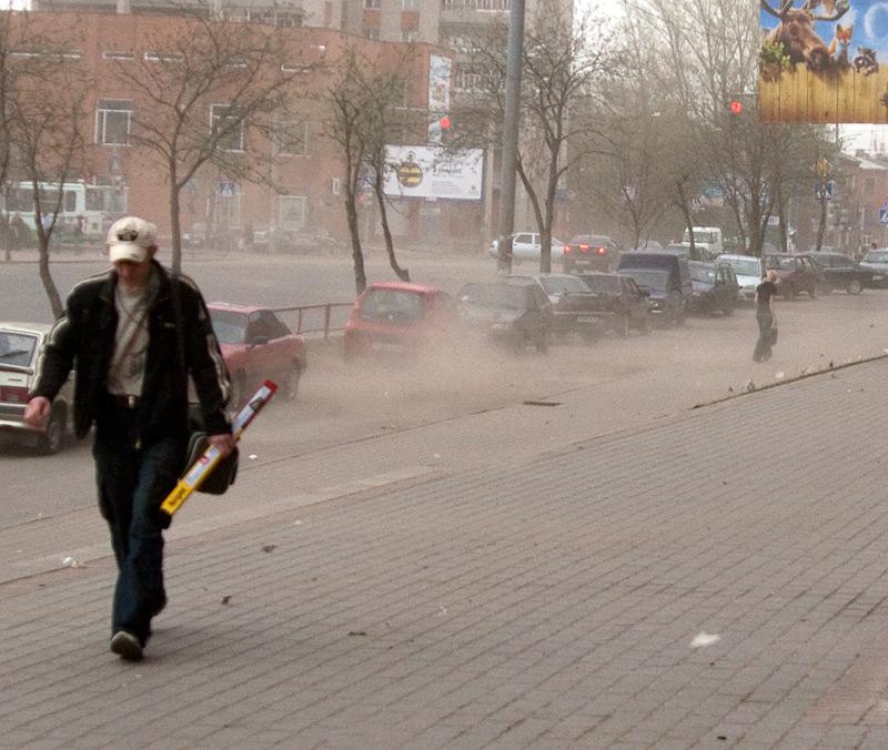 Пыль в Рыбинске