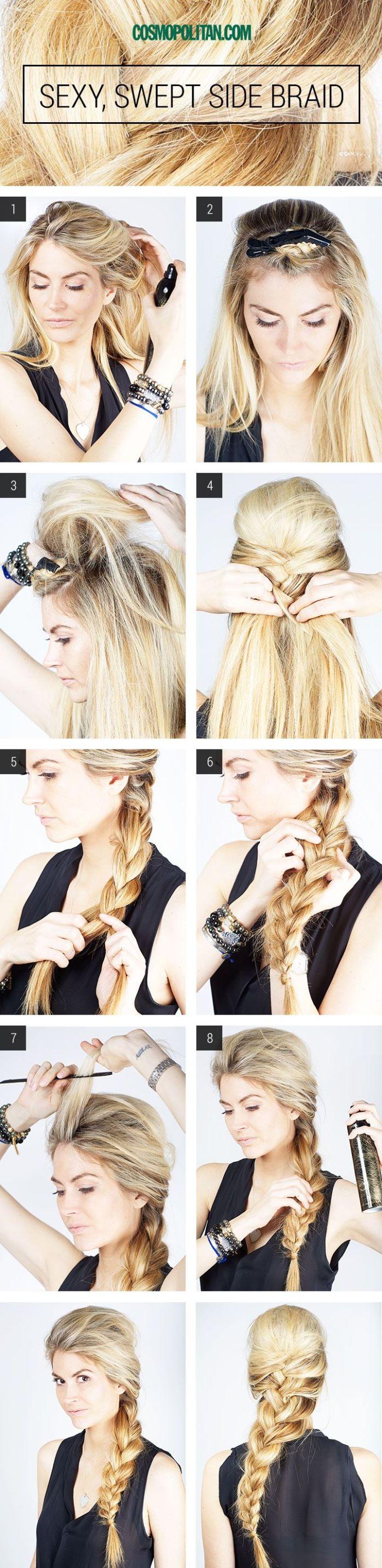 Причёска на каждый день на средние волосы своими руками косы