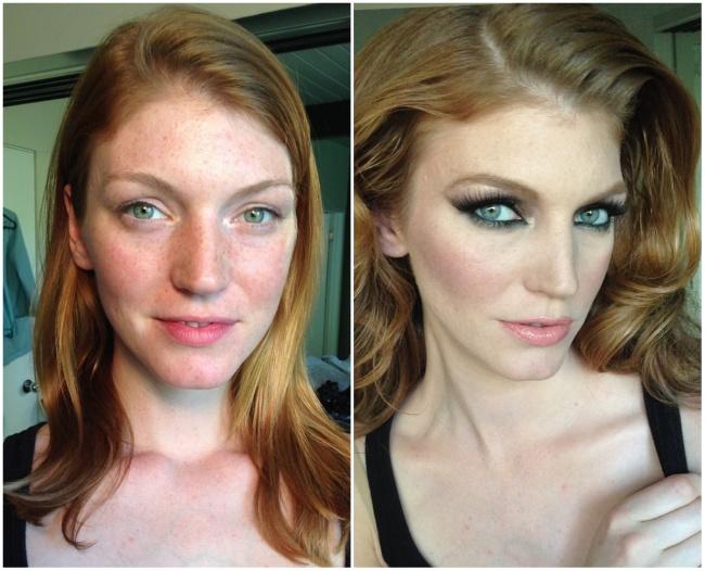 Преображение макияжем