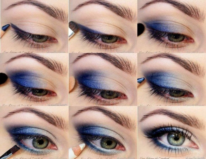 Blue-Eye-Shadow-Makeup-Tutorial-718x556