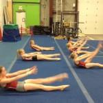 Комплексная разминка от гимнасток