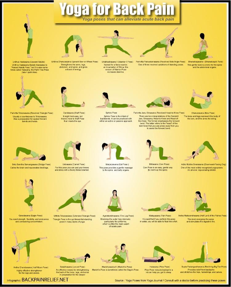 йога для больной спины